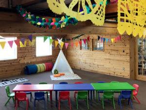 birthday party room play area